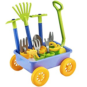 deAO Pull along Kids Wagon Whe...