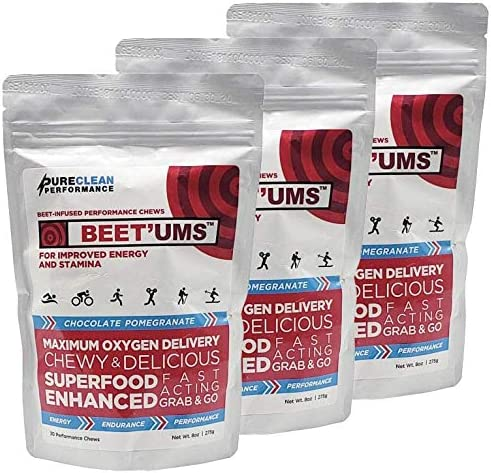 BEET UMS – Great-Tasting Performance Chews – Get Your Beets on The go – Superfood – Nitric Oxide Supplement – Supports Stamina, Energy Performance, Replace or Combine with Beet Root Powder 3 Bags