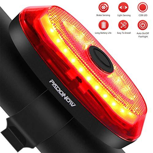 Luz trasera de bicicleta inteligente: luz de freno automática ultra brillante Montaje fácil Ciclismo Luz trasera de seguridad Led rojo Luz de encendido / apagado automático Sensor de alta linterna Linterna USB recargable Sensor de freno Luces traseras de