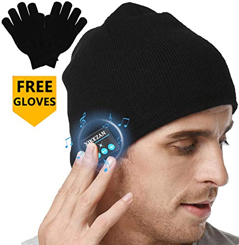 XIKEZAN Upgraded Unisex Knit Bluetooth Beanie Hat Headphones V4.2 Unique Christmas Tech Gifts for...