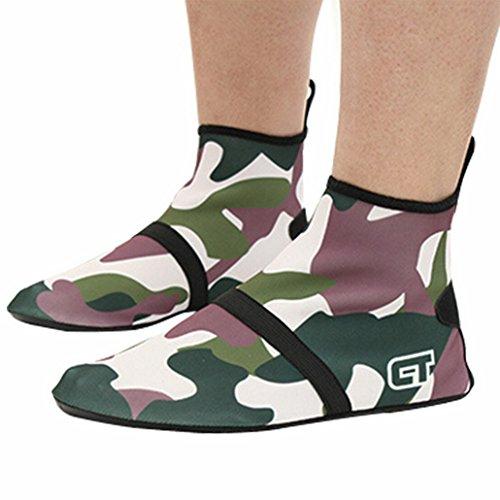 Flying Hedwig zapatos aquatiquede piel Unisex Agua Pies Desnudos para la playa nagent Surf Yoga Ejercicio verde oliva