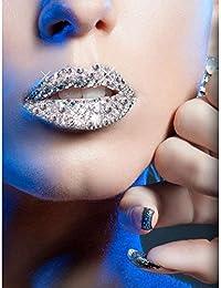 Xotic Lips Kisses Adhesive Lip Makeup Accessory, Silver