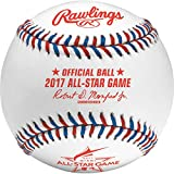 Rawlings Sporting Goods ASBB17-R MLB 2017 Official All Star Baseball in Display Cube, White