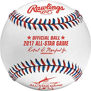 Rawlings Sporting Goods asbb17-r MLB 2017 Offizielles All Star Baseball in Display, Würfelform, Weiß