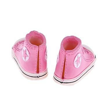 MagiDeal 3.7cm Scarpe Sportive Sneakers Tela per Le Bambole Blythe Bjd - Rosso violaceo YiufyVO