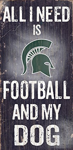 Fan Creations Michigan State University Football and My Dog Sign, - In Michigan Mall Outlet