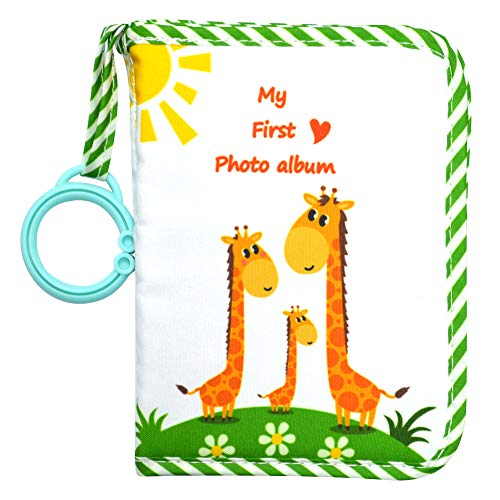 Baby's My First Family Album,Soft Cloth Photo Book,Baby Cloth Album (Green)