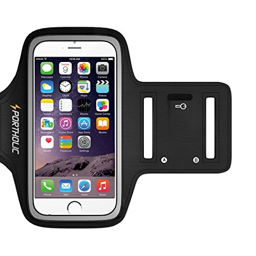 Cheap Armbands PORTHOLIC Sweat Resistant Sports Running Armband For iPhone 8/7/6/6s Galaxy S6/S5/S4 or..