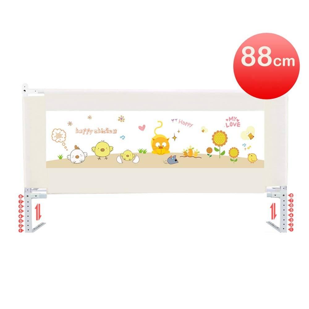 LHA ベッドガードフェンス スマートボタン折りたたみベッドガードレールベビーベッドサイドフェンス大型ベッドユニバーサル-150センチ、180センチ、200センチ (色 : 白, サイズ さいず : L-180cm) L-180cm 白 B07PPKBZPT