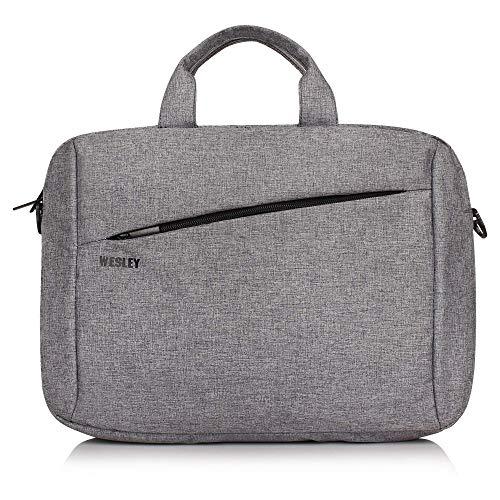 Wesley Office Laptop Bag Briefcase/Notebook/MacBook Professional Business 15.6 Inch Messenger Sling College Bag Water…
