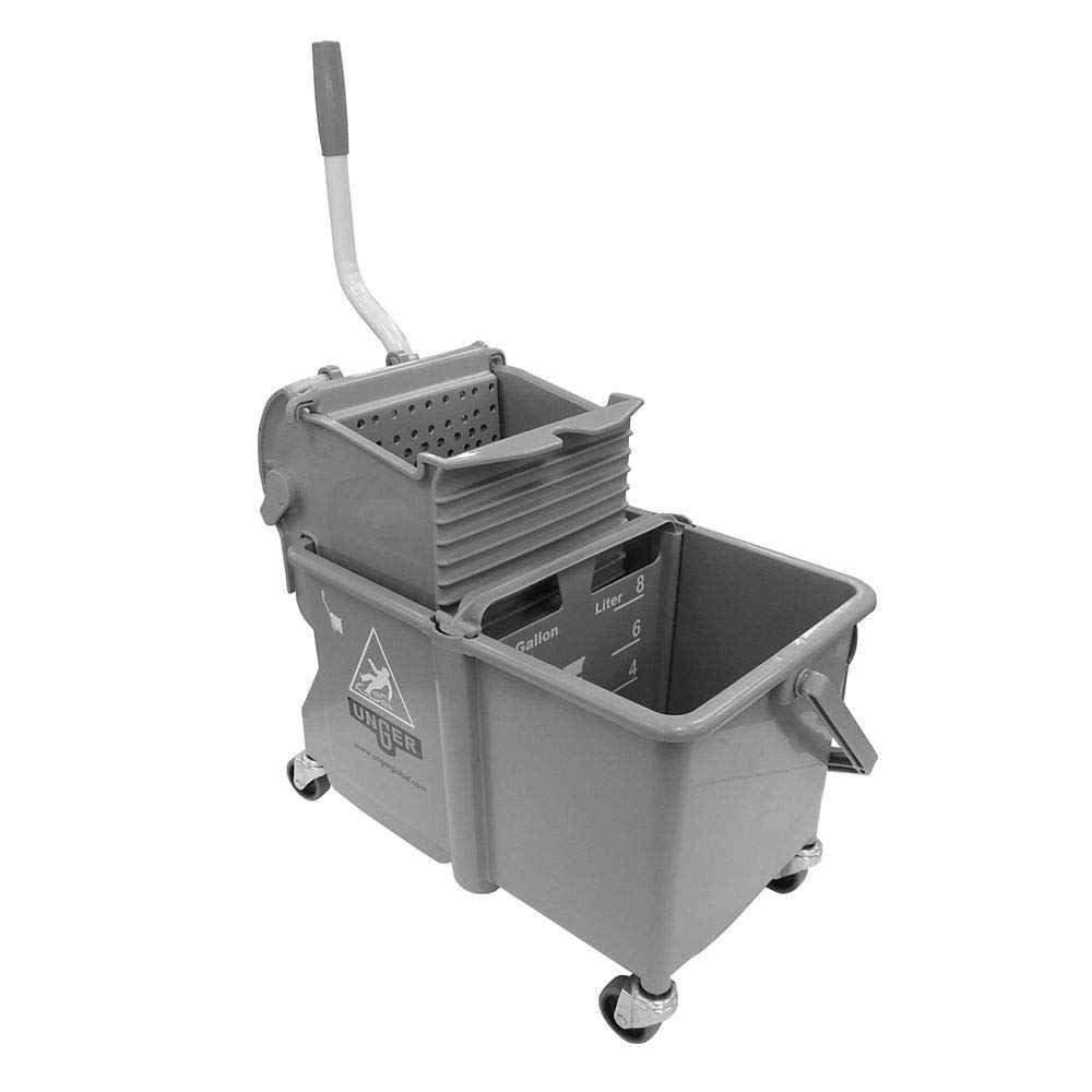 Mop Dual Bucket with Side Wringer, 4 gal.