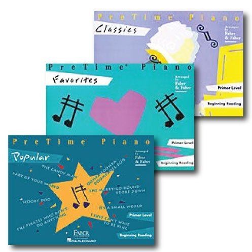 (Pretime Piano Pack - Primer Level - Three Book Set - Includes Classics, Favorites and Popular - Piano Adventures Supplementary)