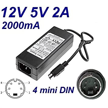 Cargador Corriente 12V 5V 2A 4 Pin Mini DIN Reemplazo Jentec Technology CO LTD JTA0202Y Recambio Replacement