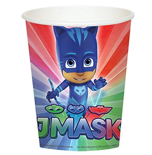 [PJ Masks 9oz Paper Cups (8ct)] (Disney Junior Pj Masks Costumes)