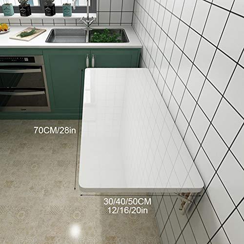 Väggfällbart bord – vitt matbord laptop skrivbord skrivbord – för garage kontor tvättkammare familj (22 storlekar) väggbord – kökshylla