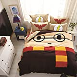 CASA 100% Cotton Kids Bedding set Harry Potter Duvet Cover and Pillowcase and Flat sheet