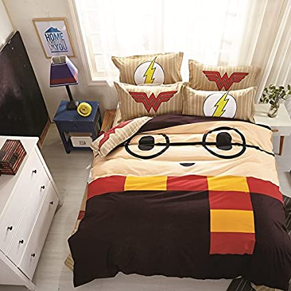 CASA 100% Cotton Kids Bedding set Harry Potter Duvet Cover