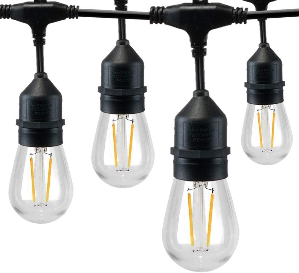 Weatherproof LED S14 Bulbs String Lights Festoon Party Garden Patio Lighting UK