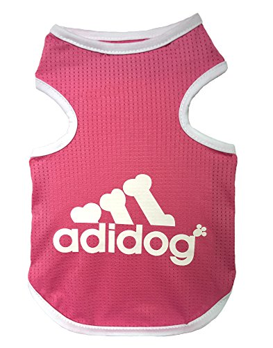 Rdc Pet Adidog Dog T Shirt, Dog Shirts, Dog Clothes Summer Tank Top Vest from S to 9X-Large Small dog, Medium Dog, Large Dog (Red, S)