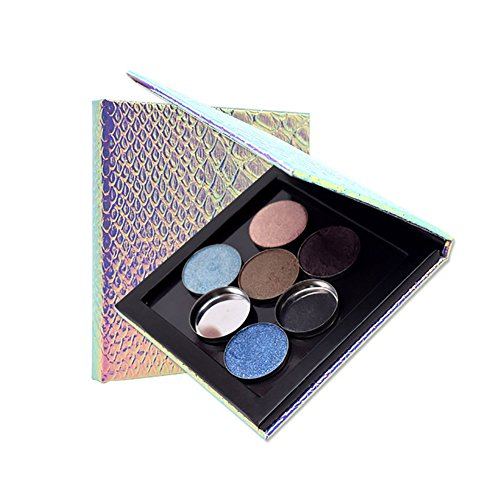 (Hankyky Fish Scale Empty Eye Shadow Magnet Box Make up Tool)