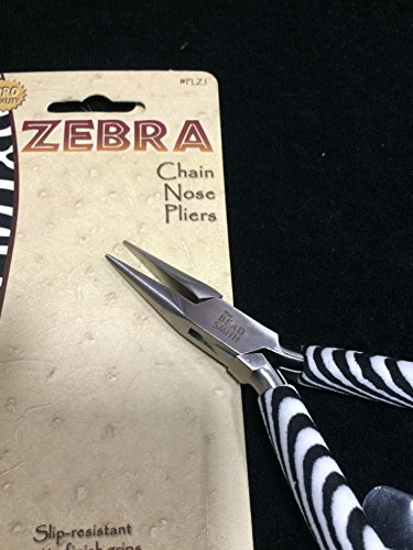 BeadSmith Zebra Chain Nose Pliers, High Polished (Zebra Chain)