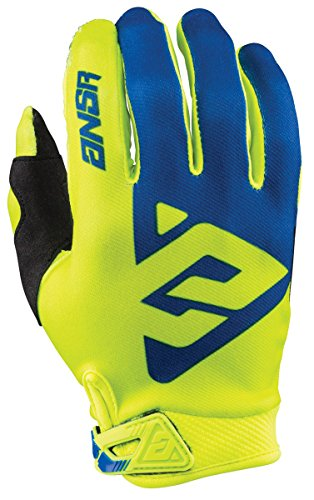 Answer Racing AR1 Men's MotoX Motorcycle Gloves - Yellow/Blue / Large
