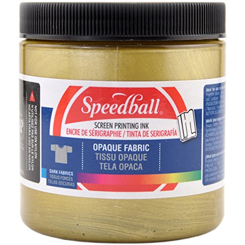 Opaque Fabric Screen Printing Ink Colour: Gold, Size: 8 oz ()