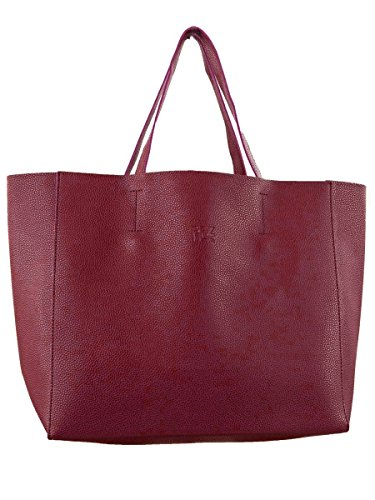 Borsa Shopper FEZ-Donna-Ecopelle-Pochette Interna MainApps Rosso