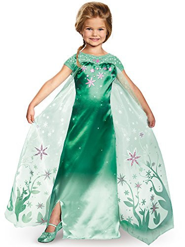 Elsa Frozen Fever Deluxe Costume, One Color, Large