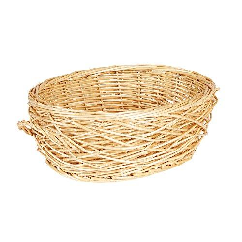 Household Essentials ML-2246 Spring Bird Nest Willow Oval Basket