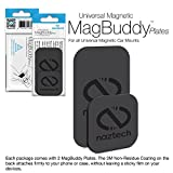 Naztech MagBuddy Ultra-Thin Plates. 2 Extra/Spare Plates for your MagBuddy Magnetic Mount, Get All Your Mobile Devices Mount-Ready Safe For iPhone X/8/8 Plus,Samsung S9 /S9+/ Note 8/Smartphones & More