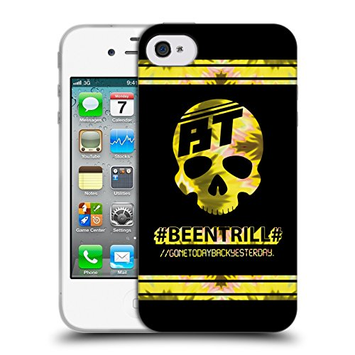 Official Been Trill Gold Colourful Prints Soft Gel Case for Apple iPhone 4 / 4S
