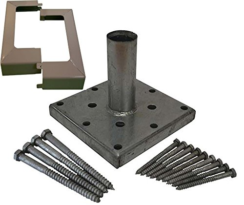 Porch Post Base (Titan Building Products 6x6 Deck Porch Post Anchor Kit with Hardware and Skirt)