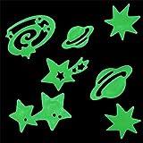 Lot de 24 pièces phosphorescentes (étoiles, lunes, planètes, galaxies...)