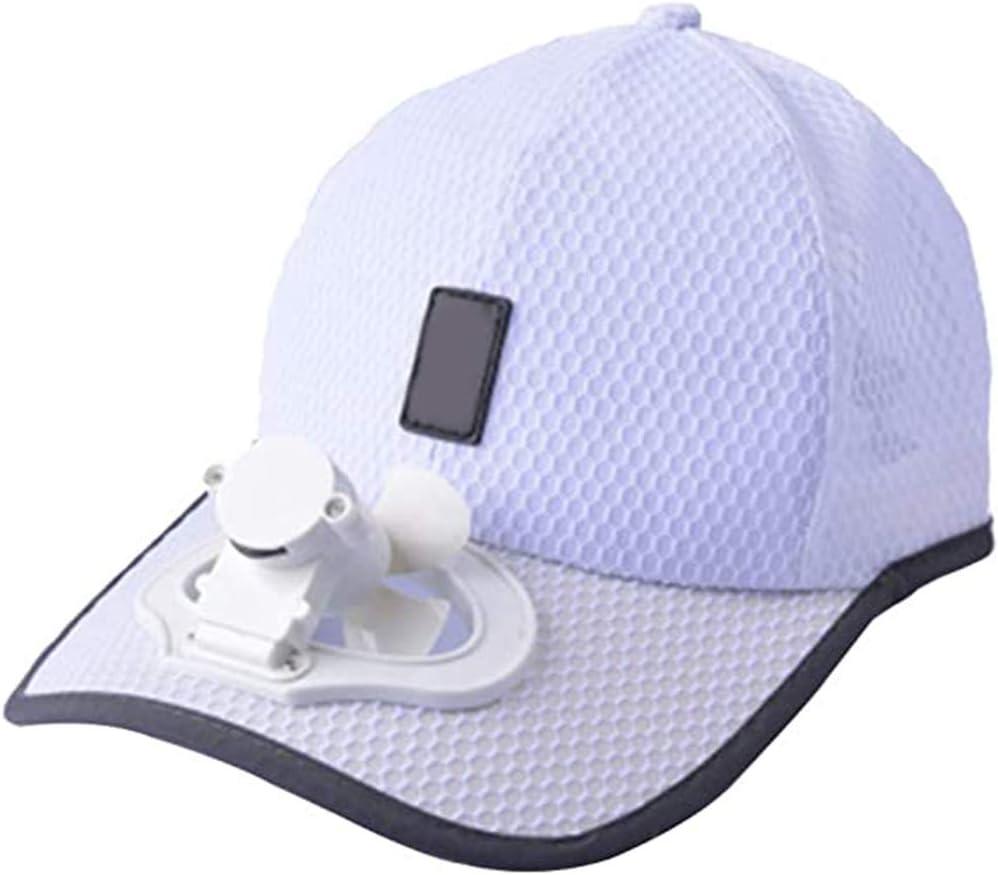 StyleBest - Gorra de verano para exteriores, con energía solar, ventilador de refrigeración y carga USB, ajustable, mini ventilador de verano, camping, viajes, al aire libre