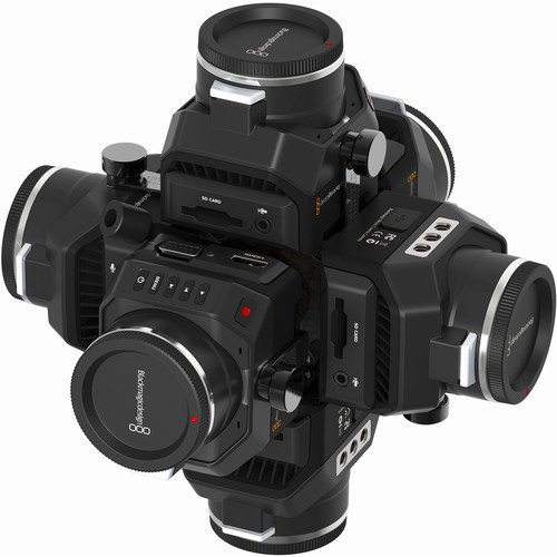 Image of Sports & Action Video Cameras 360RIZE 360 Video 4, 5 or 6-Camera 360 Video rig for Blackmagic Design Micro Cinema 2K and Micro Cinema Studio 4K Cameras Black