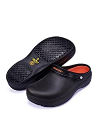 SensFoot SW-08 Anti-Slip Work Safety Shoes for Chef Slip Resistant Clog (Included Shoes insoles)