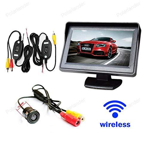 GOFORJUMP Draadloos systeem voor parkeermonitor, mini-achteruitrijcamera, CCD + 10,9 cm (4,3 inch), LCD-monitor van de…