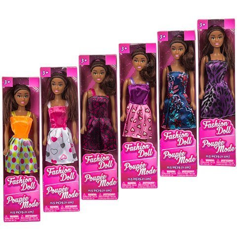 African American Fashion Dolls, 11''. Set of 6 with different clothes. Introduce them to your Barbie collection. Great favors for Birthday Party gifts BONUS (1) MERMAID DOLL by Toy