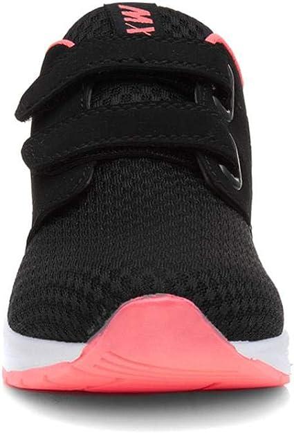 Girls Trainer Easy Fasten Trainer in Black /& Pink by Mercury