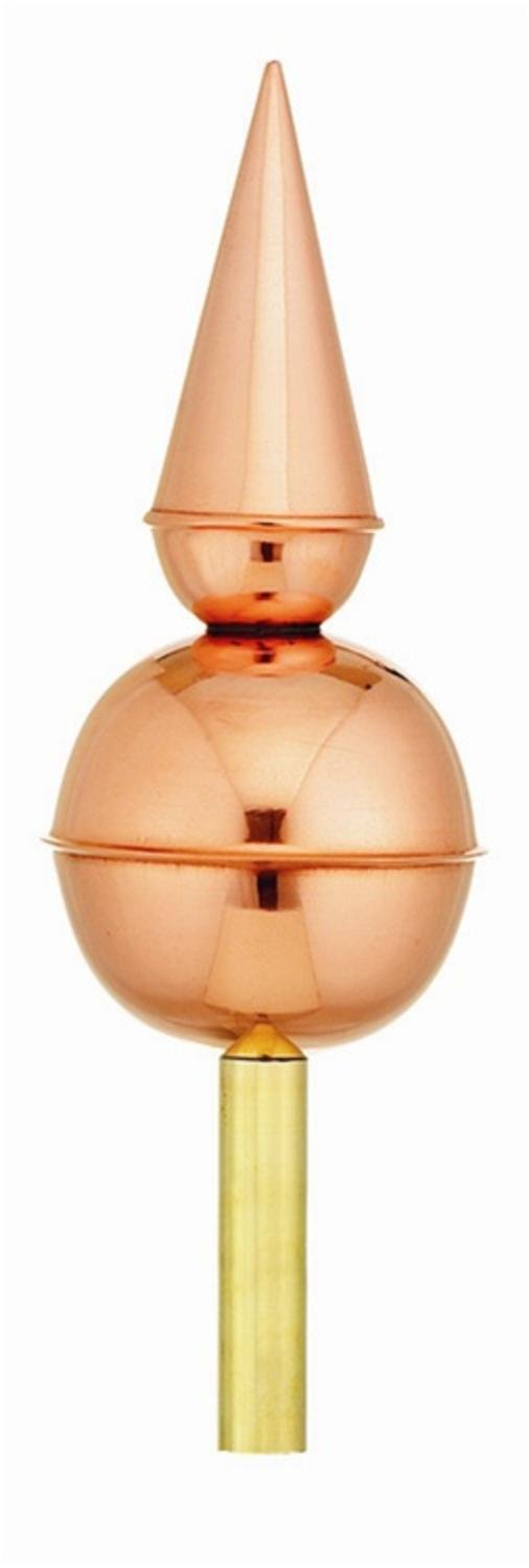 13'' Handcrafted ''Avalon'' Pure Polished Copper Cupola Finial