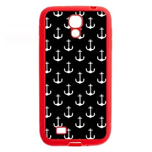 Anchors Protective Red Rubber Colorful Cover Case for SamSung Galaxy S4