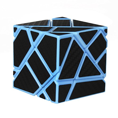 Cheap Acekid 3x3 Ghost Cube Advanced Rubiks Cube Magic Speed Rubik's Cube Brain Teasers Intelligence Puzzles with Carbon Fiber Sticker for Kids Adults (Blue & Black) hot sale