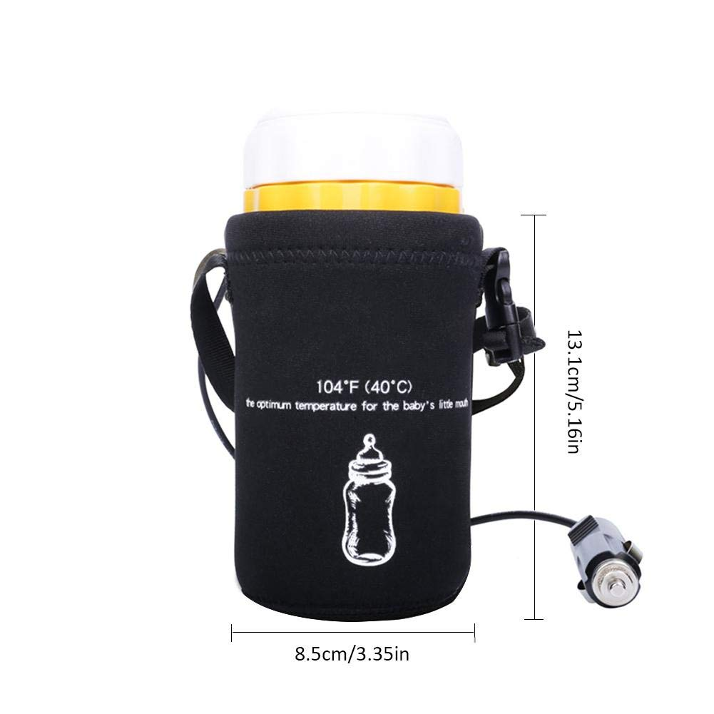Portable Travel Car Baby Bottle Warmer 12V Safe Constant Temperature Car Milk Warmer Portable and Simple Operation