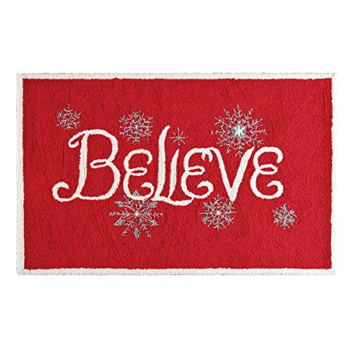 2′ x 3′ Hooked Handcrafted Believe Rug with Acrylic Facing and Polymer Latex Cotton Backing Review