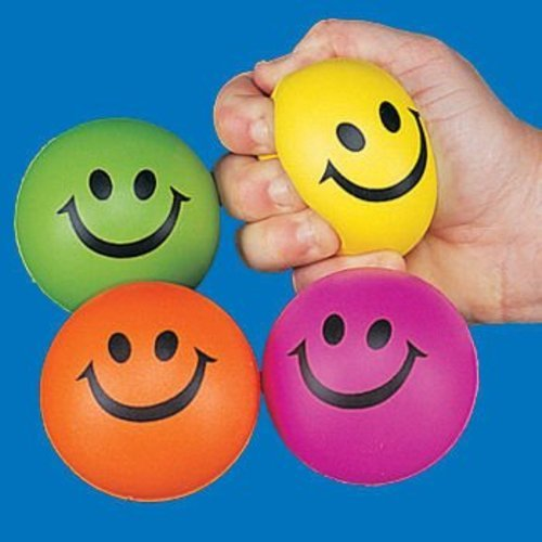 Smile Face Squeeze Ball Colors