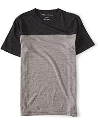 Men's Thin Stripe Colorblock Tee Shirt
