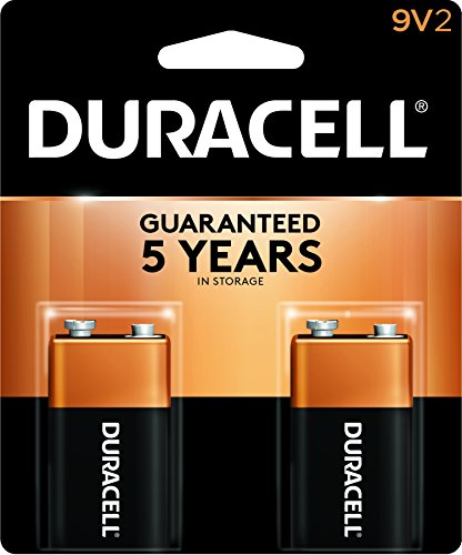(Duracell - CopperTop 9V Alkaline Batteries - long lasting, all-purpose 9 Volt battery for household and business - 2 count)