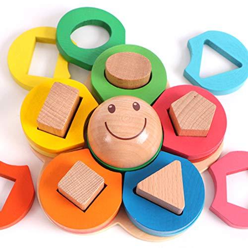 赤ちゃんのおもちゃ 子供用 教育補助 早期教育 形状 柱 組み立てブロック おもちゃ 赤ちゃん パズル 1-2-3歳 男の子  スタイル9 B07RKPNFQV