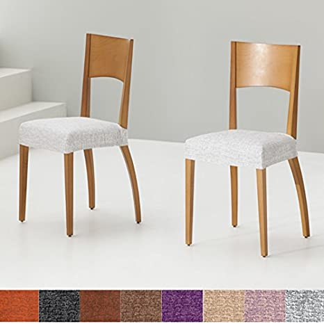 Jarrous Pack de 2 Unidades de Fundas de Asiento para Silla Modelo Comino, Color Cardenal-Beige, Medida Asiento 45-55cm